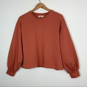 Madewell; Chord Bubble-Sleeve Top